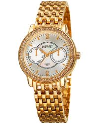 August Steiner - Women's Diamond Accent Alloy Watch - Lyst