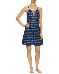 Marabelle - Cotton Lace Up Flared Dress - Lyst