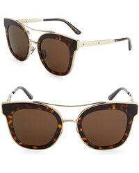 Bottega Veneta | 52mm Tortoiseshell Cat-eye Sunglasses | Lyst