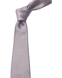 Canali - Blue & Gold Dots Silk Tie - Lyst