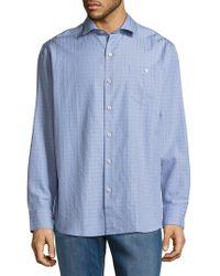 Tommy Bahama - Aloha Isles Windowpane Casual Button-down Shirt - Lyst