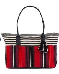 Mercado Global - Dolores Cotton Stripe Weekender - Lyst