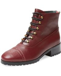 F-Troupe   Sylvia Leather Lace-up Boot   Lyst