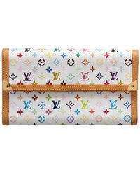 Louis Vuitton - White Monogram Multicolore Canvas International Wallet - Lyst