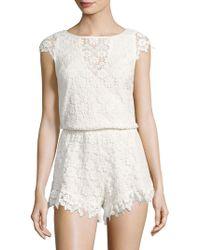 Winston White - Victoria Embroidered Lace Romper - Lyst