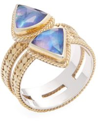 Anna Beck Jewelry - Double Triangle Band Lapis Triplet Trend Ring - Lyst