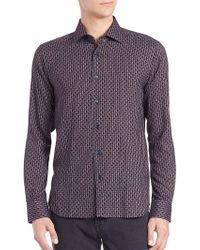 Saks Fifth Avenue - Geometric Print Button Shirt - Lyst