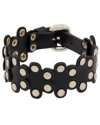 RED Valentino - Flower Puzzle Leather Bracelet - Lyst