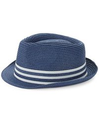 Saks Fifth Avenue - Striped Patterned Fedora Hat - Lyst