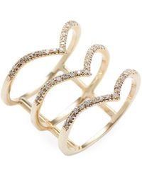 Bianca Pratt - Gold Triple Tiara Diamond Ring - Lyst