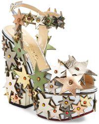 Charlotte Olympia | Supernova High Heel Platform Sandal | Lyst
