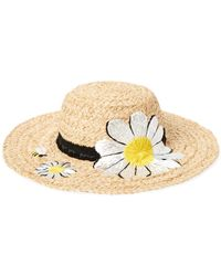 7ce17313 Kate Spade - Embroidered Daisy Raffia Sun Hat - Lyst