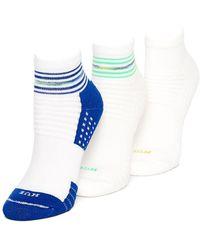 Hue - Air Cushion Quarter Top Ankle Socks, Three-pack - Lyst