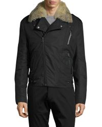 Yves Salomon - Veste Rabbit And Fox Fur-trimmed Coat - Lyst