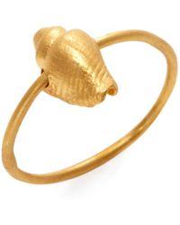 Valentino - Conch Shell Charm Midi Ring - Lyst
