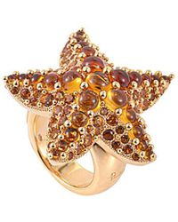 Pomellato - 18k Rose Gold Quartz Starfish Ring - Lyst