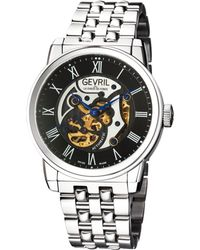 Gevril Watches - Vanderbilt Stainless Steel Automatic Watch, 47mm - Lyst