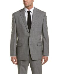 Austin Reed - 2pc Wool Suit With Flat Front Pant - Lyst