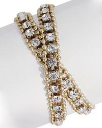 Loren Hope - Minimal Metals 18k Plated Crystal Wrap Bracelet - Lyst