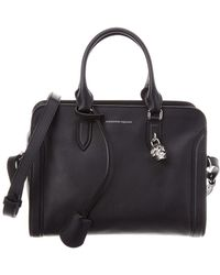 Alexander McQueen - Small Padlock Leather Tote - Lyst
