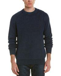 Forte - Stonewash Fisherman Rib Crew Neck Sweater - Lyst