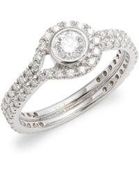 Kwiat - Silhouette Diamond & 18k White Gold Fancy Ring - Lyst