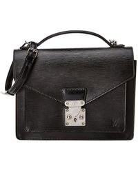 Louis Vuitton - Black Epi Leather Monceau - Lyst