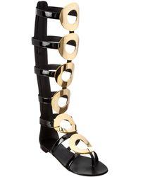 Giuseppe Zanotti Patent Gladiator Sandal