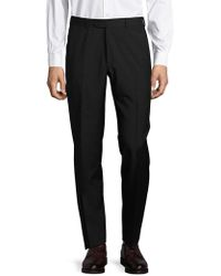 Santorelli - Textured Flat-front Trousers - Lyst