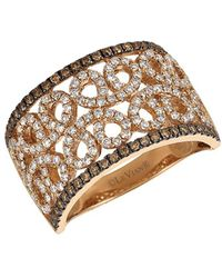 Le Vian - Chocolatier® Chocolate & Vanilla Diamond® And 14k Strawberry Gold Ring - Lyst