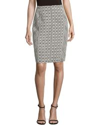 J. Mendel - Lace Pencil Skirt - Lyst