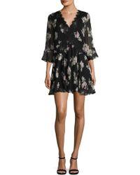 Marabelle - Floral Print Flared Dress - Lyst