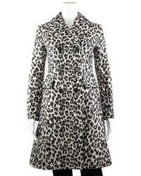 Dior - Brown & Black Silk Leopard Print Long Coat, Size 2 - Lyst