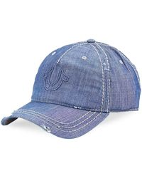 True Religion - Distressed Horseshoe Logo Baseball Cap - Lyst