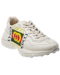 Gucci - Rhyton Logo Leather Sneaker - Lyst