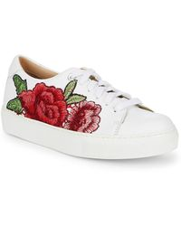 Saks Fifth Avenue - Floral Leather Sneakers - Lyst