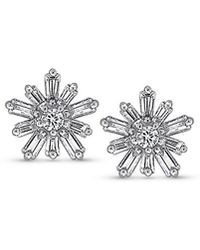 KC Designs - Mosaic Starburst Diamond And 14k White Gold Earrings - Lyst
