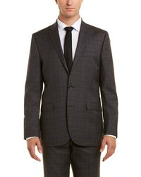 Kenneth Cole - 2pc Wool Suit With Flat Front Pant - Lyst