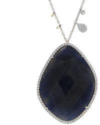 Meira T - 14k 56.65 Ct. Tw. Diamond & Blue Sapphire Necklace - Lyst
