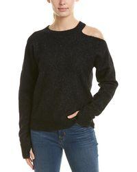 n:PHILANTHROPY Nphilanthropy Cold-shoulder Alpaca-blend Sweater