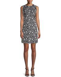 Karl Lagerfeld - Embellished Floral Dress - Lyst