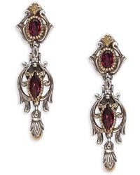 Konstantino - Artemis Rhodolite, 18k Yellow Gold & Sterling Silver Earrings - Lyst
