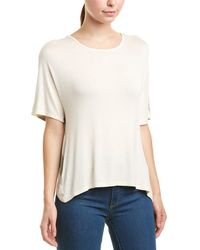 Three Dots - Bias Crossover Top White - Lyst