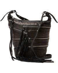 Ash - Babe Zip Front Leather Crossbody - Lyst