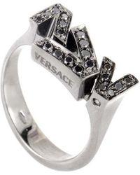 Versace - 18k 0.24 Ct. Tw. Diamond Ring - Lyst