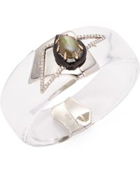 Alexis Bittar - Lucite Abstract Pave Petal Bangle Bracelet - Lyst