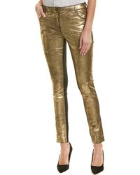 Nicole Miller - Artelier Leather Skinny Pant - Lyst