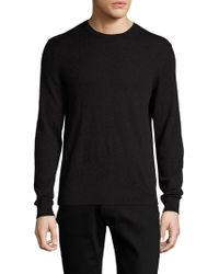 Burberry Brit | Richmond Cashmere Plaid Check Elbow Crewneck Sweater | Lyst