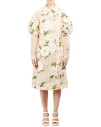 Simone Rocha - Double Breasted Floral Sheer Jacket - Lyst