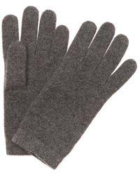Portolano - Grey Cashmere Gloves - Lyst